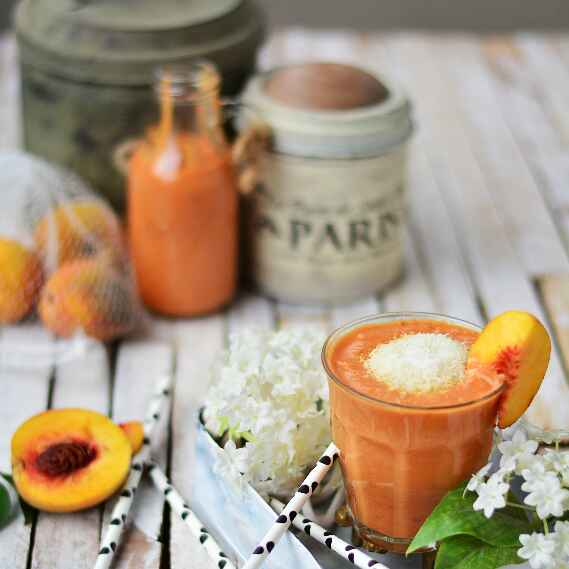 How to make Peach Coconut Smoothie