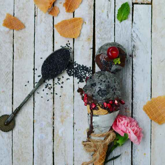 How to make Black Sesame (Til) Ice Cream