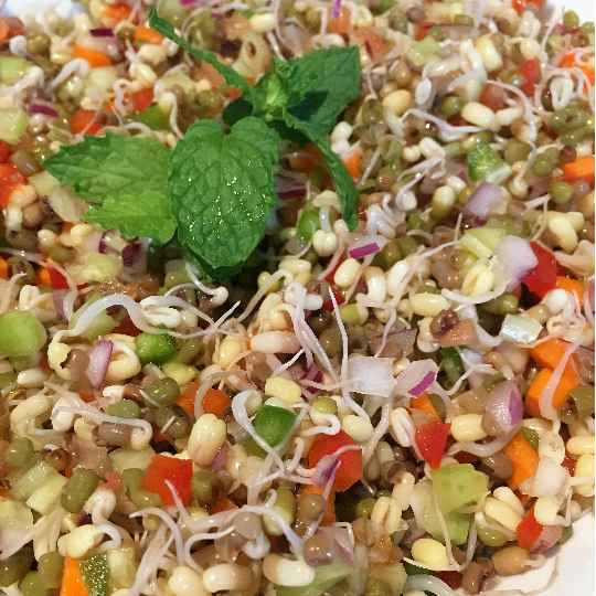 Photo of Sprouted Moong Daal Chaat by Shivani Srivastav at BetterButter