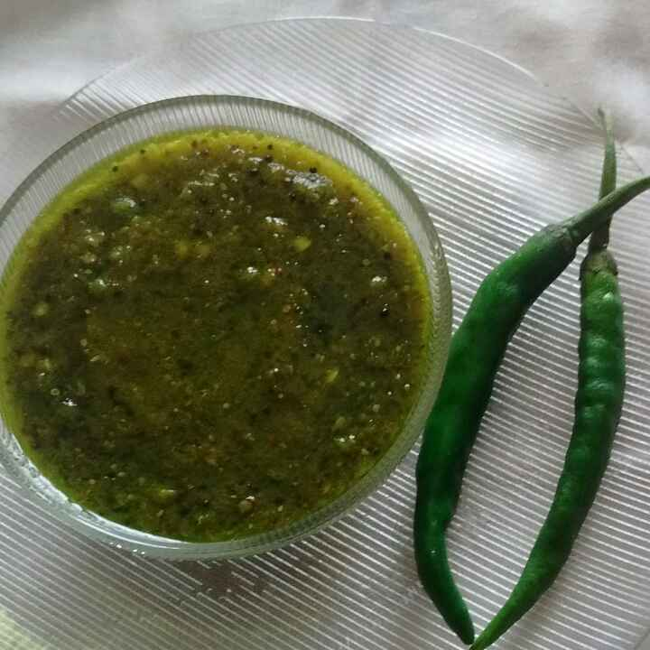 How to make Instant green chilly pickle