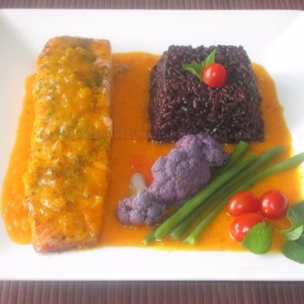 How to make GRILLED SALMON WITH SAFFRON SAUCE