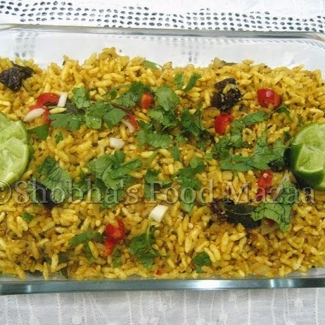 How to make UGGANI - Puffed Rice Snack from Andhra Pradesh