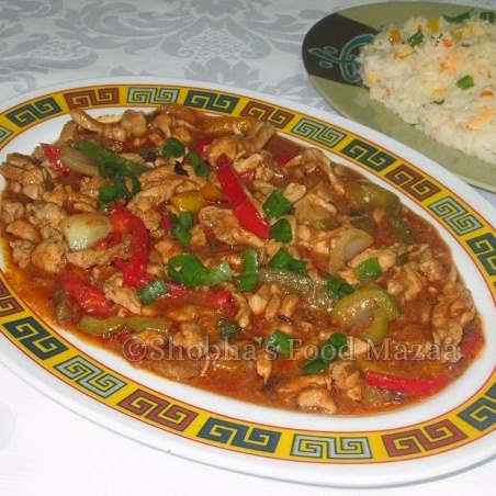 Photo of Shredded Chicken with Capsicums/ Bell Peppers  by Shobha Keshwani at BetterButter