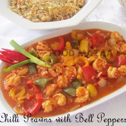 Photo of CHILLI PRAWNS WITH BELL PEPPERS by Shobha Keshwani at BetterButter