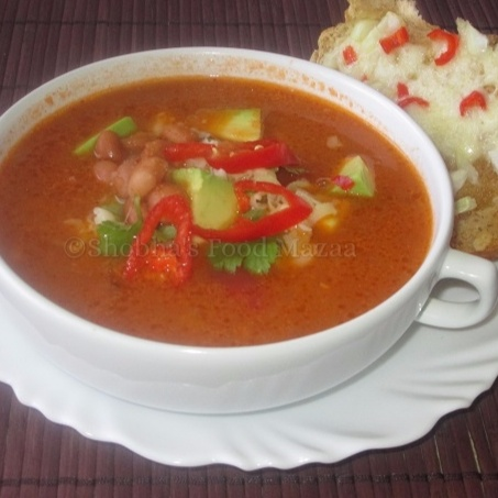 How to make MEXICAN TOMATO AND BEAN SOUP