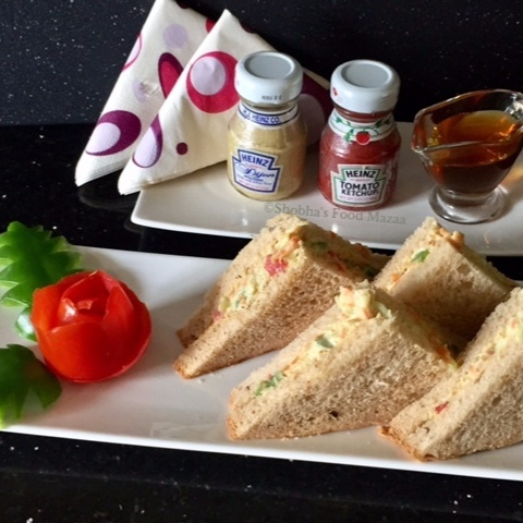 How to make HONEY AND HUNG CURD VEGETABLE SANDWICHES