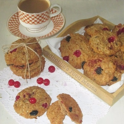How to make HEALTHY SUGAR FREE OATS AND FRUIT COOKIES