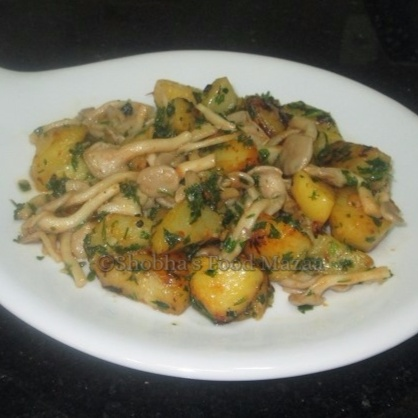 How to make SHIMEJI MUSHROOM AND POTATO STIR-FRY