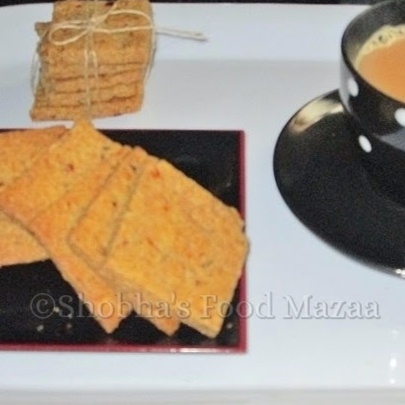 How to make BAKED WHOLEWHEAT MASALA CRACKERS