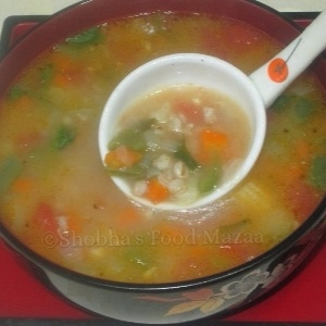 How to make VEGETABLE AND BARLEY SOUP