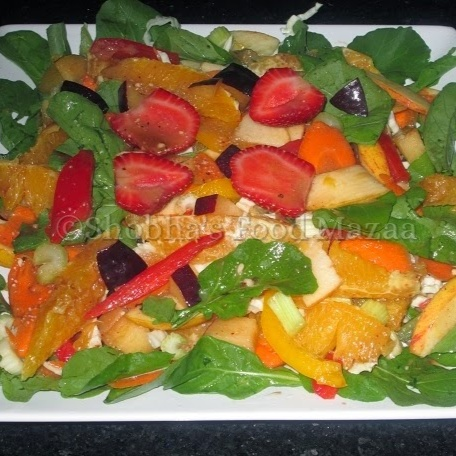How to make FRUIT AND VEGETABLE SALAD