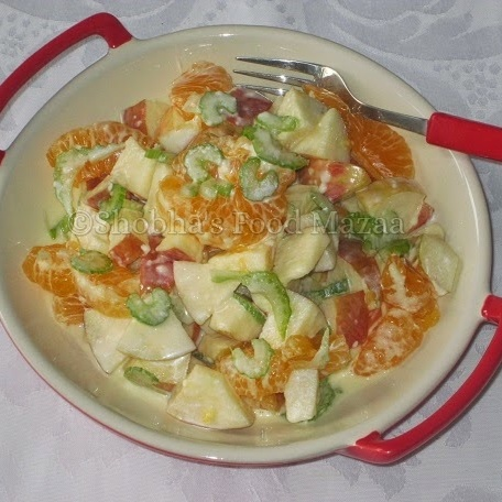 Photo of APPLE SALAD WITH CITRUS DRESSING by Shobha Keshwani at BetterButter