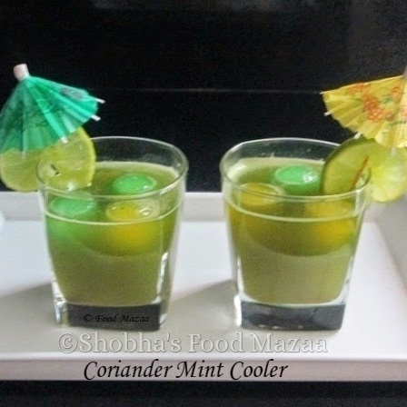 How to make CORIANDER MINT COOLER