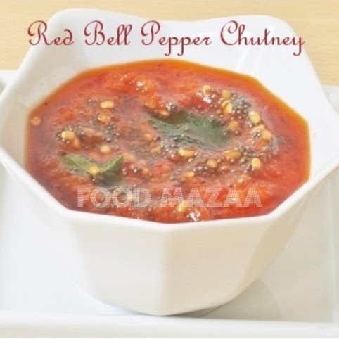 How to make ROASTED RED BELL PEPPER CHUTNEY