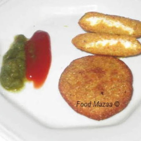 How to make MASOOR DAL CUTLETS ( with cheese & paneer filling )