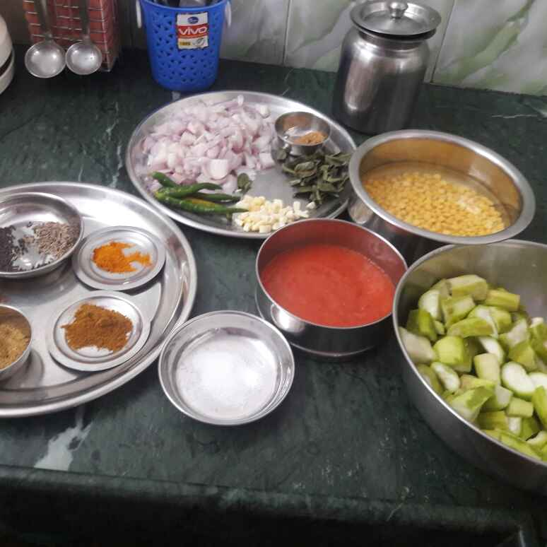 Photo of Ridge gourde and chana daal curry by Shobha.. Vrudhulla at BetterButter
