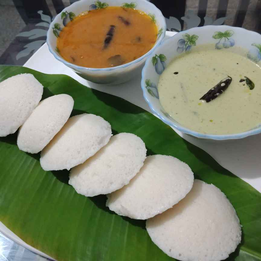 How to make Idli ,sambhar and coconut chutney