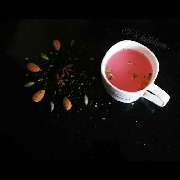 Photo of Kashmiri pink tea by Shraddha Patel at BetterButter