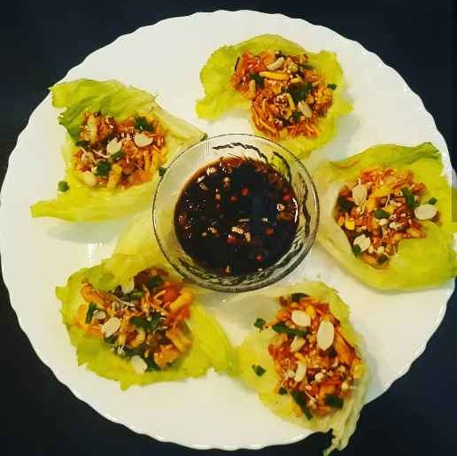 How to make Lettuce wraps with soy sauce
