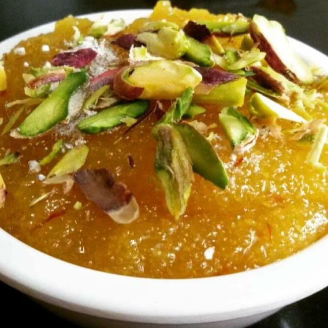 Photo of Kesari - Kesariya Suji ka halwa (the most traditional South Indian Sweets) by Shreela Sasidharan at BetterButter
