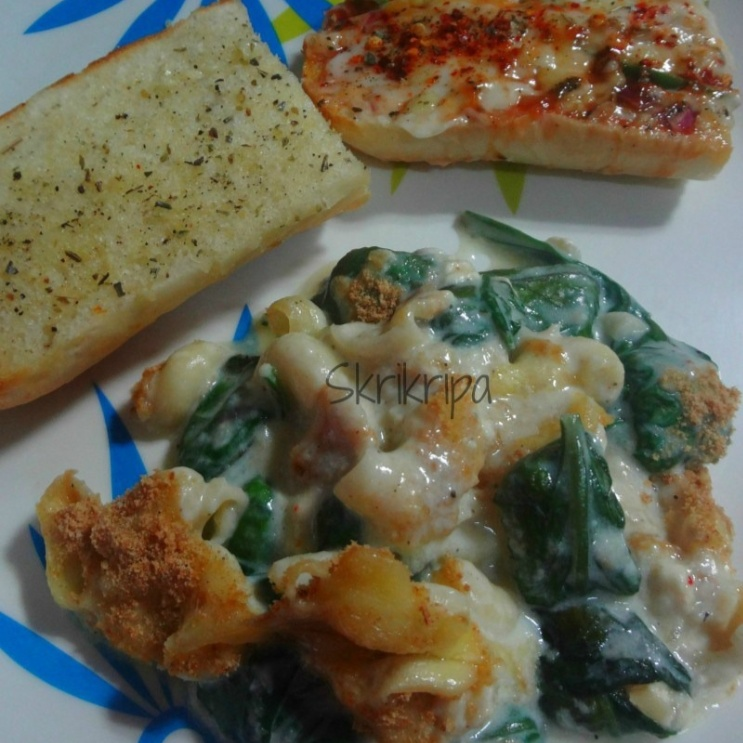 Photo of Spinach Surprise- Pasta with Spinach and Paneer by Shri Kripa at BetterButter