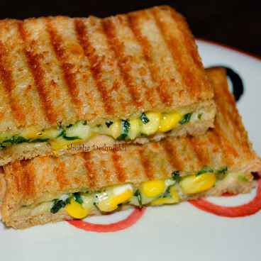 Photo of Cheese Corn Spinach Sandwich by Shubha Salpekar Deshmukh at BetterButter
