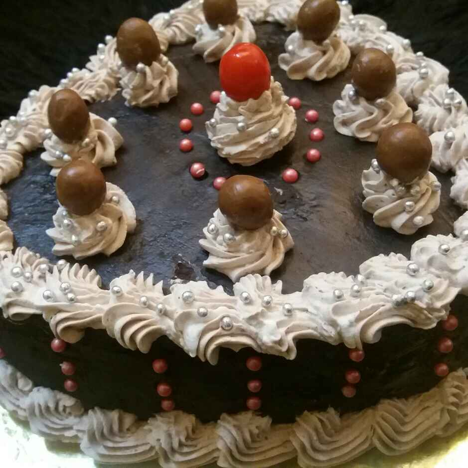 Photo of Wallnut Chocolate Cream Cake by Shubhra Shubhra at BetterButter