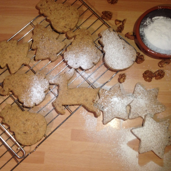 Photo of Walnut Shortbread Christmas Cookies by Shuchita Verma at BetterButter