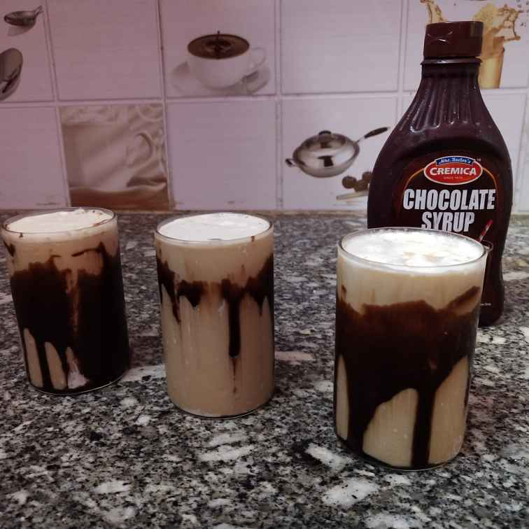How to make Cold coffe with ice cream