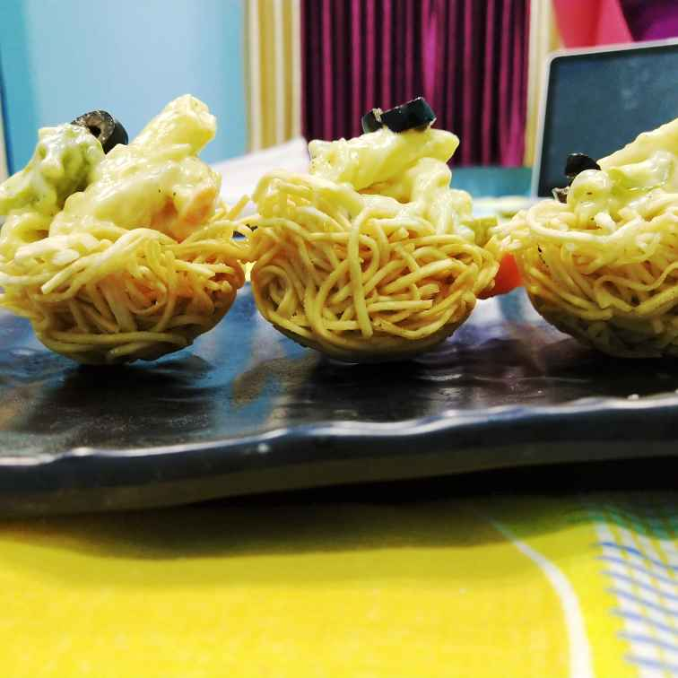 How to make Alfredo noodle nest