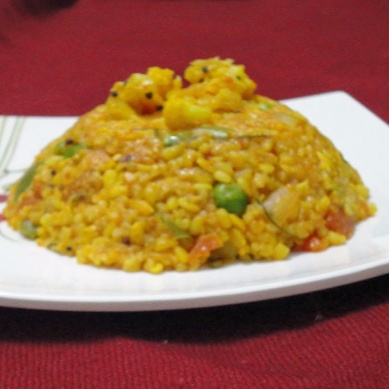 How to make Daliya Upma /Cracked wheat and vegetable pulav