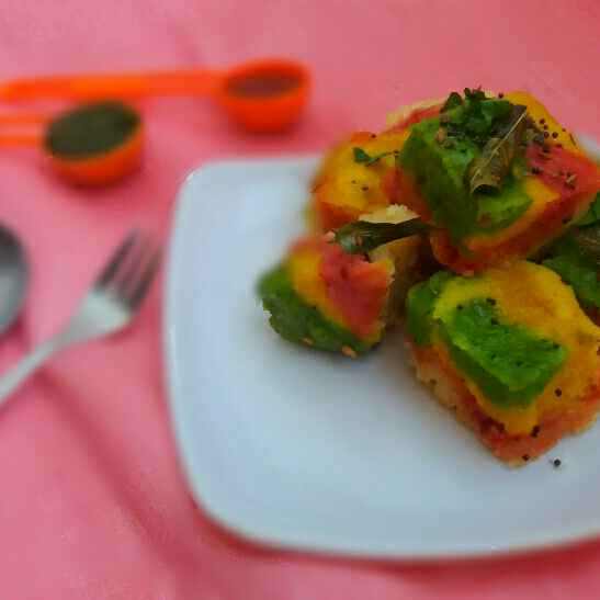 How to make Rainbow dhokla