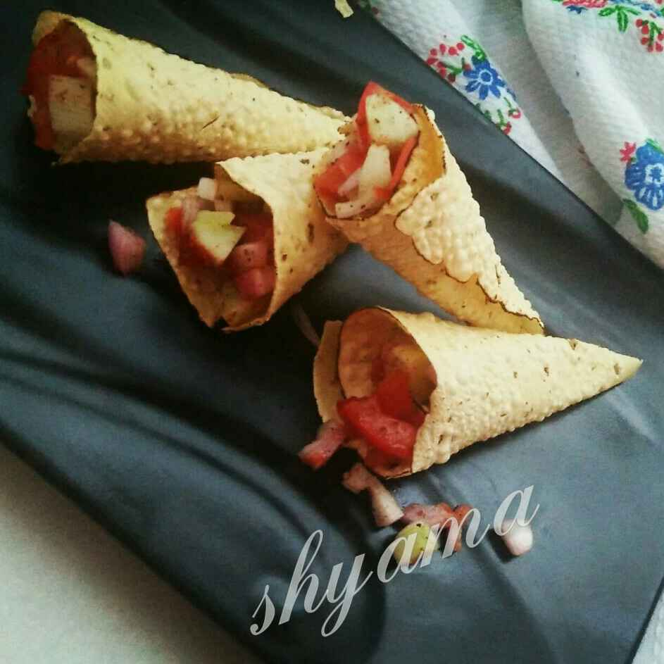 How to make Masala papad cone