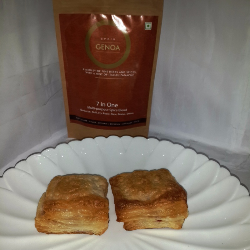 Photo of Veg n Cheese Puff Squares by Shyamala Kumar at BetterButter