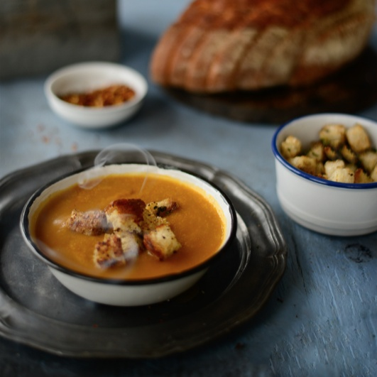 Photo of PUMPKIN AND DRIED PEA SOUP by Simi Jois at BetterButter