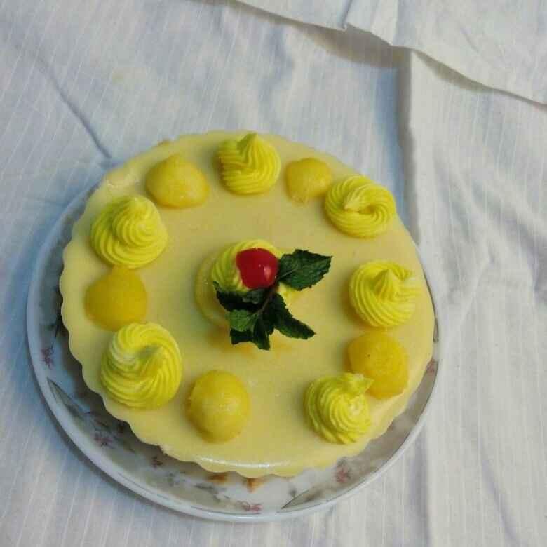 Photo of Mango cheese cake. by Simran Chhabra at BetterButter