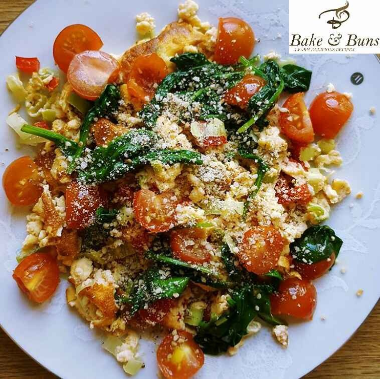 How to make Scrambled egg with red bell pepper