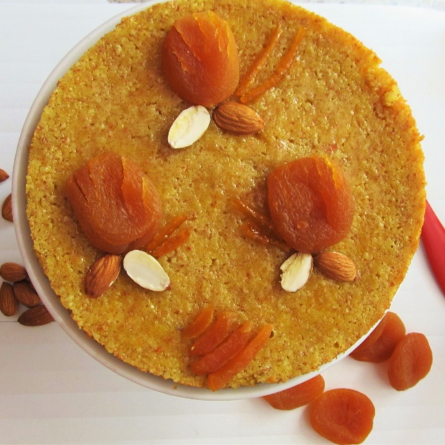 How to make Spanish Orange and Almond Cake (with Dried Apricots)