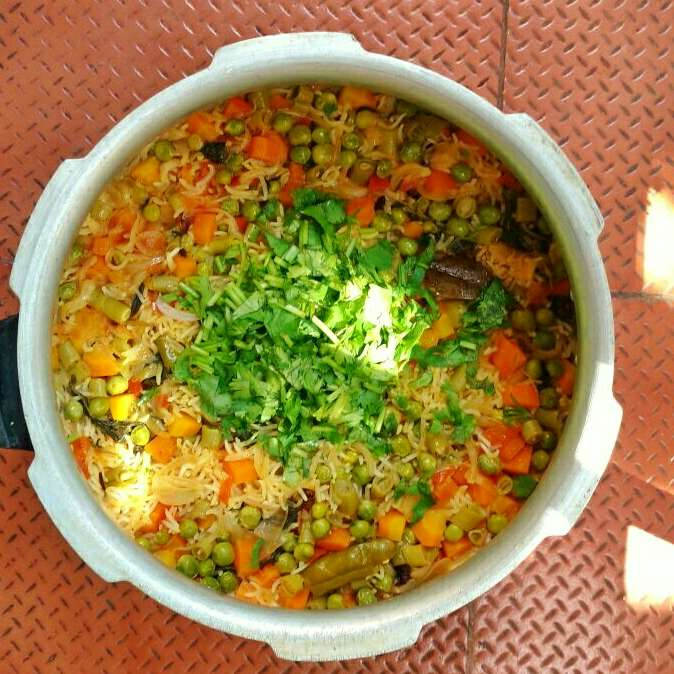 How to make Vegetable Briyani - One Pot One Shot (OPOS)