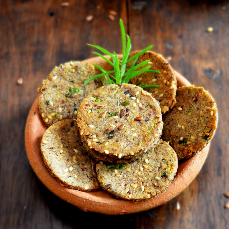 How to make Multigrain Flax Seed Savoury Crackers