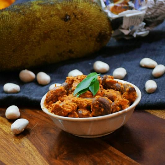 How to make Jackfruit Seeds Sukka (Dry curry)