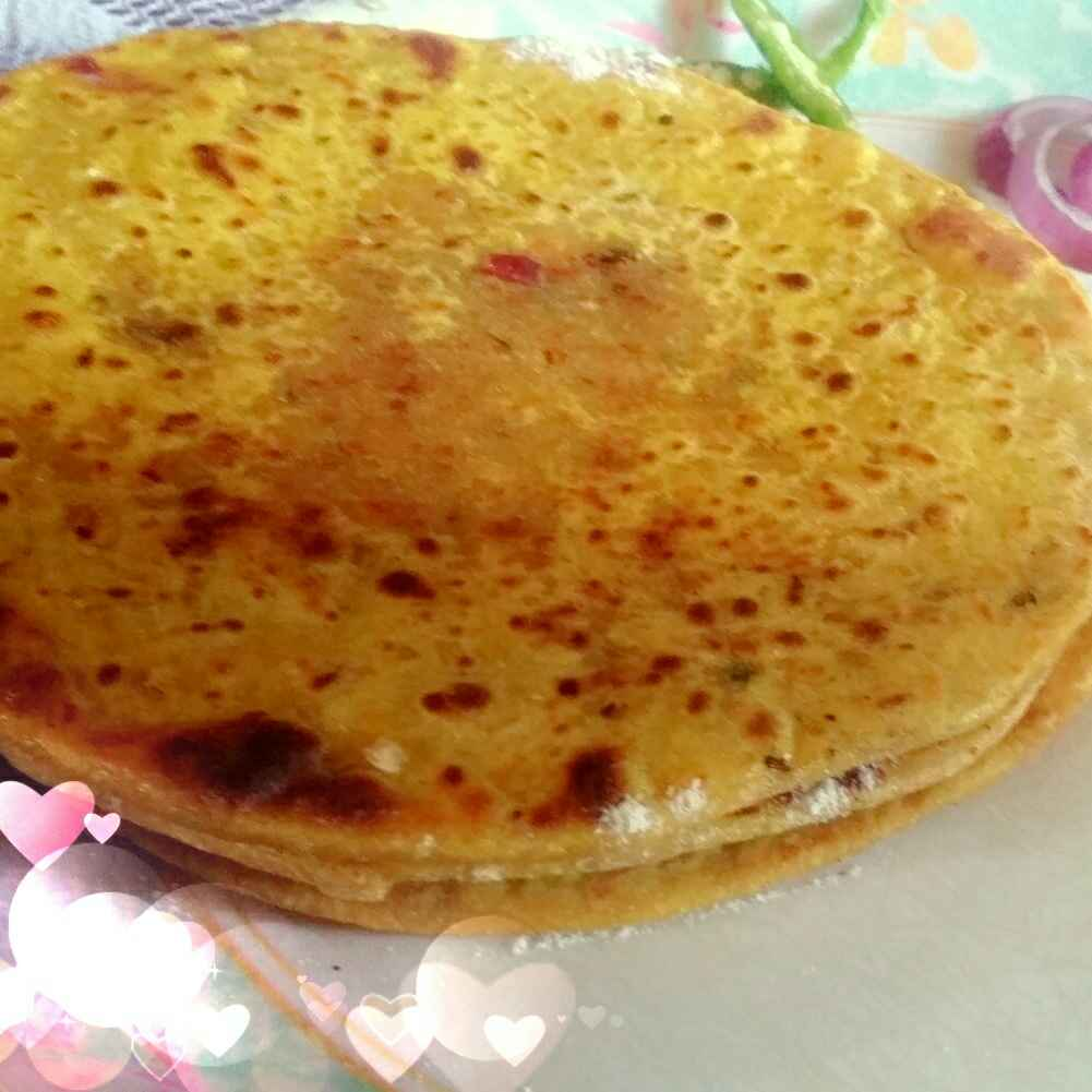 How to make Besan Paratha Stuffed with Coconut.