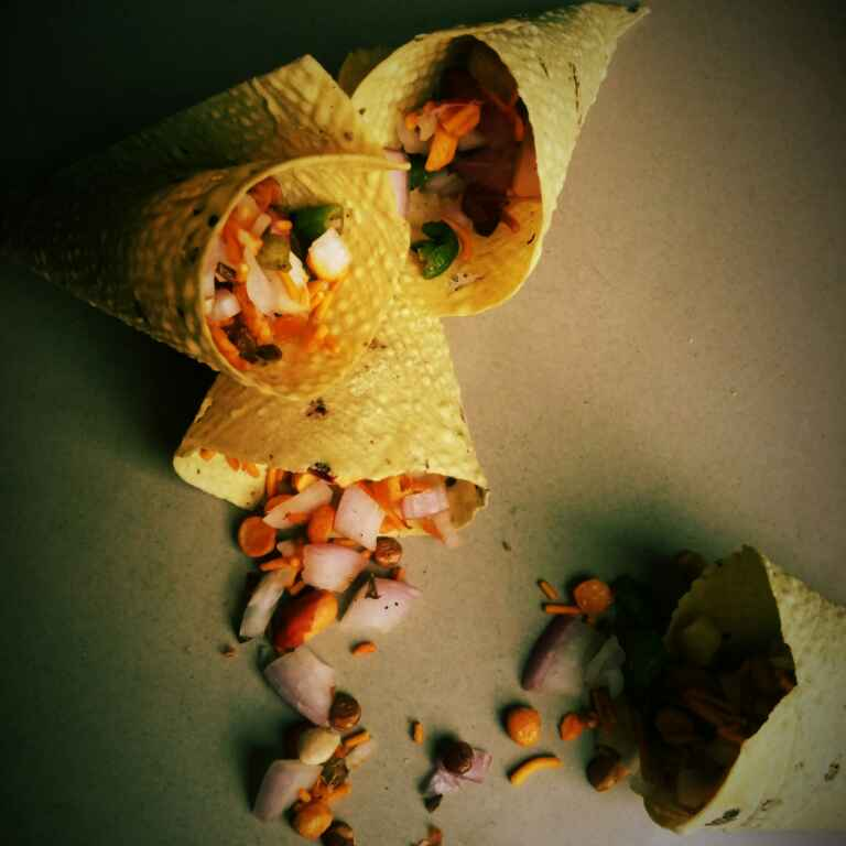 How to make Cone Papad chaat