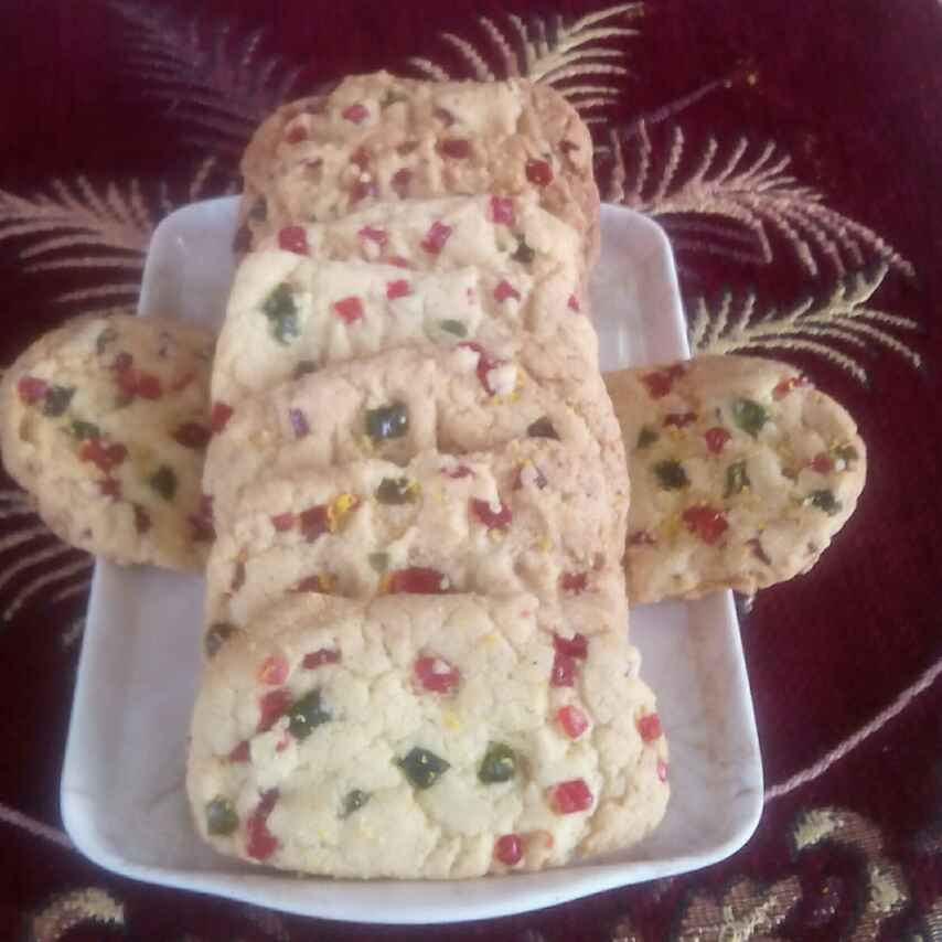 Photo of Tutti fruity butter biscuit by Smt Veena Saraf at BetterButter