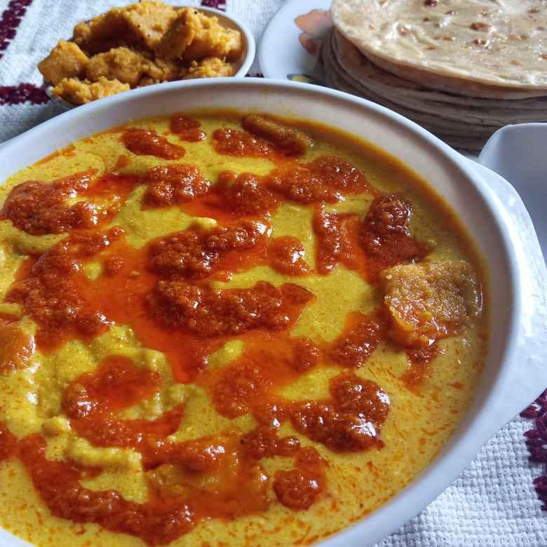 Photo of Kathiyawadi Dhokli In Curd Gravy by Solanki Minaxi at BetterButter