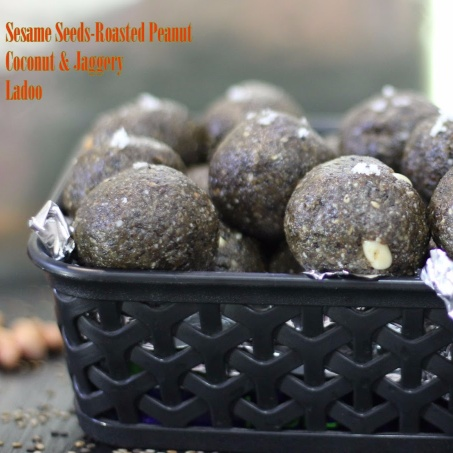 How to make Sesame seeds - roasted peanuts - coconut and jaggery ladoo