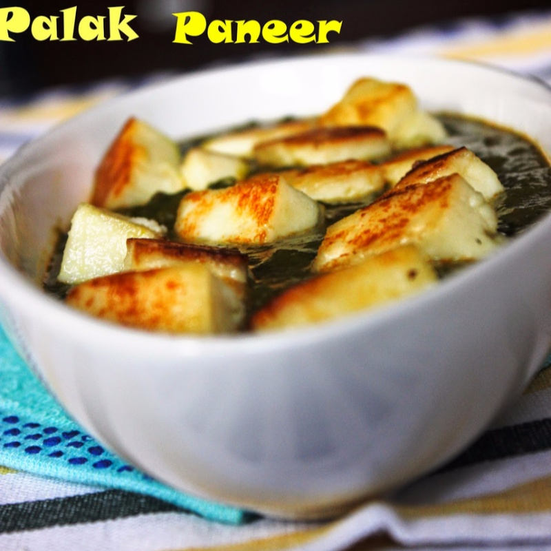 How to make Palak Paneer / Cottage Cheese cooked in Spinach Gravy
