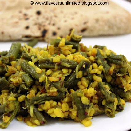 How to make Green Beans with Lentils