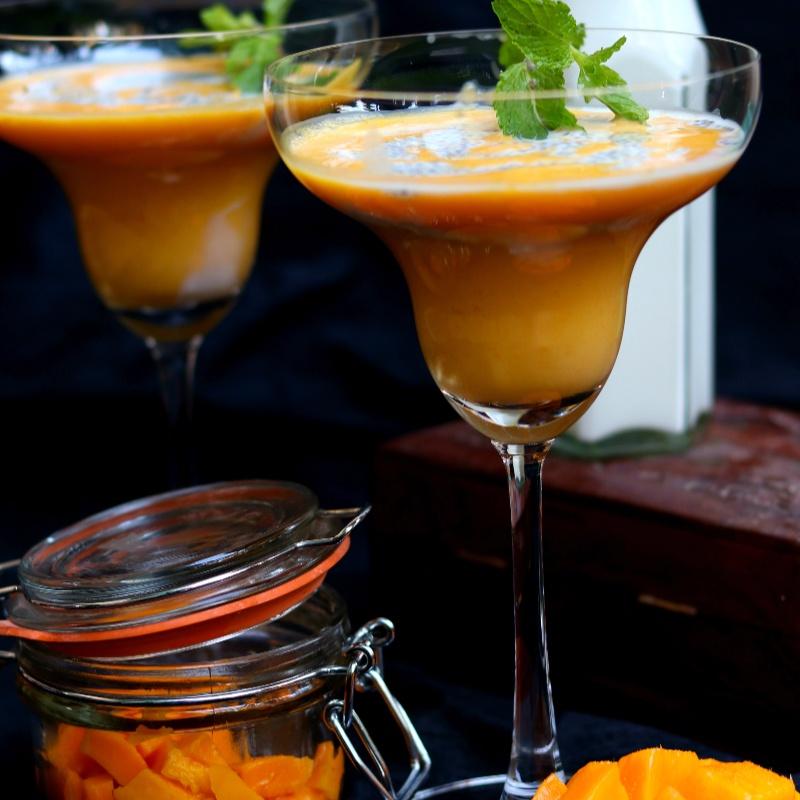 How to make Mango Chia MilkShake