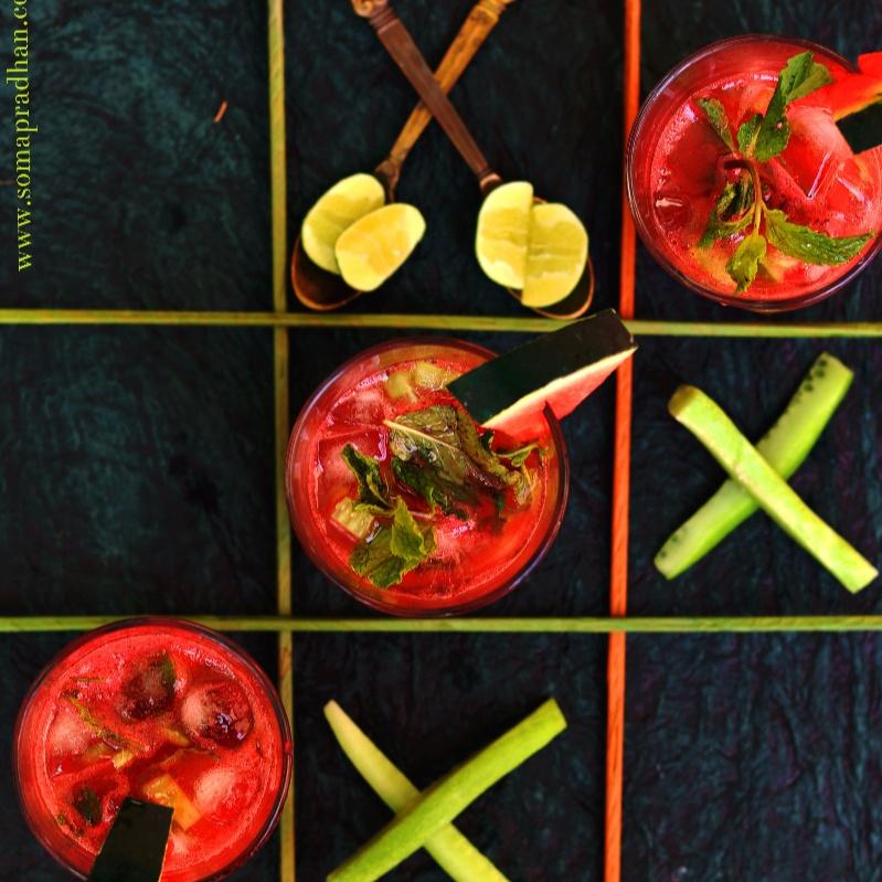 How to make Cucumber Watermelon Mojito